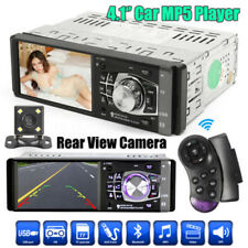 4.1'' 1DIN Car InDash MP5 Player Bluetooth Stereo Audio Radio With Rear Camera