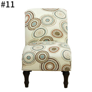 Armless Accent Chair Cover Stretch Printed Protector Slipcover for Single Sofa