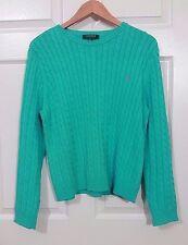 RALPH LAUREN SWEATER WOMEN Knitted Light Green XL
