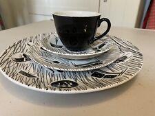 Ridgway  Retro Homemaker  4 piece set  (dinner, tea plate, cup and saucer) 1960s