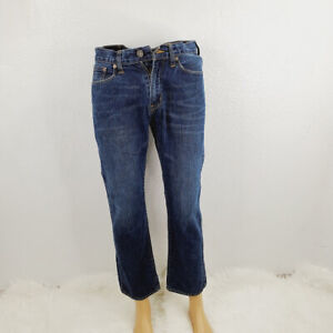 American Eagle Outfitters Mens Blue Slim Fit Straight Denim Jeans Size 30x30