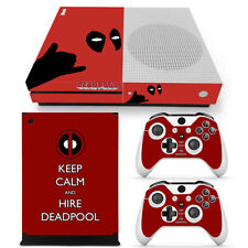 Deadpool Cool Host Sticker Decal Skin  Xbox one S SLIM Console &2 controllers