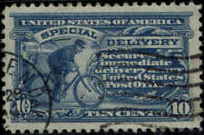 #E9 1914 10c SPECIAL DELIVERY USED--XF--HANDSTAMP TOWN CANCEL