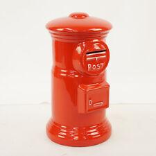 [No.1185]Japan postal savings box, piggy bank, Japan, pottery made of red of the