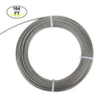 (1/8Inch, 7x7,164FT) Aircraft Steel Wire Rope Cable  Railing,Decking, Stainless