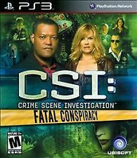 SEALED CSI: Crime Scene Investigation - Fatal Conspiracy (PlayStation 3, 2010)