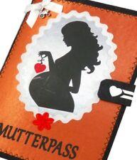 Mutterpasshülle Mutter MUKI Pass mit Herz in Kupfer aus Filz | Impfpass Hülle