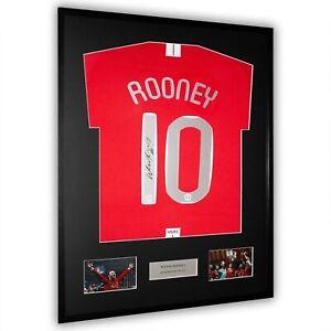 Wayne Rooney Signed Manchester United Framed Shirt Moscow Final 2008 Rare COA