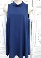 FOREVER 21 Plus Size 1X Midnight Blue A Line Sleeveless Cowl Neck Casual Dress