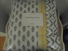 BRAND NEW John Lewis Printed Patchwork Bedspread, throw -  Grey and Ochre Large
