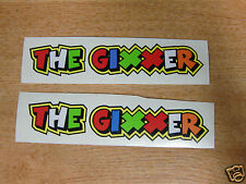 """Valentino Rossi style text - """"THE GIXXER""""  x2 stickers / decals  - 5in x 1in"""