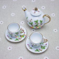 1:6 Ceramic Dolls House Miniature Tea set Dolls Picnic Pretend Play Girl Party