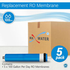 5 Pack 100 GPD Membrane Reverse Osmosis Max Water Filter Universal RO System NSF