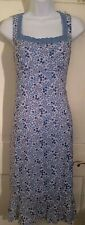 Juniors Blue Floral Empire Waist Dress by California Concepts (01351)