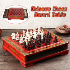 Vintage Chinese Terracotta Warriors Chess Board Game Set Gift Friends Family