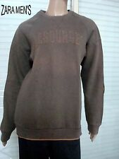 SWEAT MARRON /MOUTARDE ZARA JEANS T M MOLLETONNE MIXTE 14/16 ANS