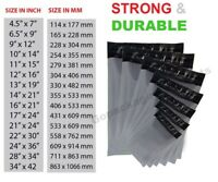 GREY MAILING BAGS STRONG PLASTIC POSTAGE POLY POST PACKING SELF SEAL - ALL SIZES