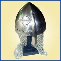 Norman Nasal Helmet with Chain Mail for re-enactment / larp / role-play