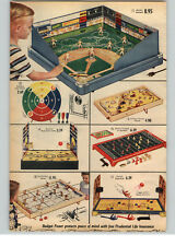 1955 PAPER AD 2 PG Electro Magnetic Baseball Game Ice Hockey Game Ouija Board