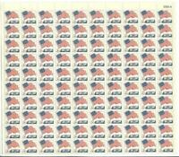 US SCOTT1208 PANE OF 100 FLAG OVER WHITE HOUSE 5 CENT FACE MNH