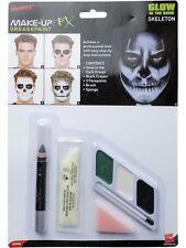 Halloween Glow in The Dark Skeleton Face Paint Kit Smiffys