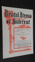 Revista Dental Items de Interes N º 8 August 1927 ABE