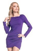 Glamour Empire. Women's Asymmetric Drape Mini Dress Longline Tunic Top. 941