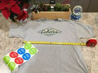 Vtg 90s Cabela's Classic Logo T-Shirt XXL Grey 90s Hunting Outdoors RARE GIFT !!
