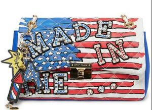HTF! Betsey Johnson USA 4th Of July Made In The…. United States Flag Purse