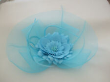 Turquoise Flower Fascinator New