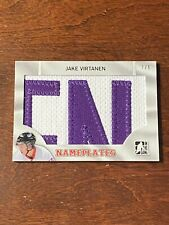 JAKE VIRTANEN 7/8 2014 IN THE GAME ITG DRAFT PROSPECTS NAMEPLATES PATCH HKY