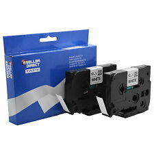 2 X P Touch Tz231 12mm X 8m Compatible Negro/blanco Cartuchos De Cinta