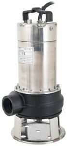 240V Cutter 200 Submersible Foul Water Pump Slurry Sludge Stainless Steel 330 L
