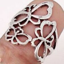 SIZE 6.5 BALI JAVA .925 SILVER CUTWORK BUTTERFLY RING==7JX6.5RSLV-3590