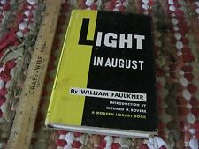 Light in August by William Faulkner  1950 Modern Library Edition $1.95 HC/DJ