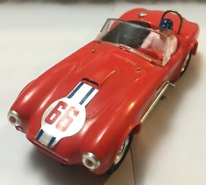 Triang Scalextric Vintage A.C. Cobra + Tires & Accessories (Red, Good Condition)