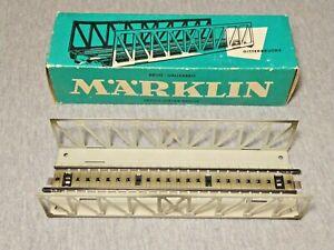 Marklin HO Scale Open Girder Metal Bridge in Box 7162 ~ TS