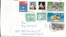 CLB103) Nice W. Germany 1977 Cover XXI Olympic, Ladies, Bike Car, Sozphilex +2