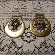 Lot of 2 Vintage / Antique Brass Fobs Stamped England On The Back
