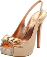 "BCBGeneration ""Angelo"" Beige/Nude Platform Pumps with Bow Detail Size 6"