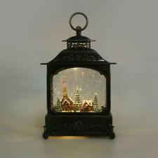 Traditionell LED Krippenspiel Wasser Glitzer Schneekugel Laterne Heim Dekoration