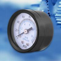 """Pressure Gauge Air Oil Water Pressure Meter 0-160psi/0-10bar 1/8"""" NPT Thread DH"""