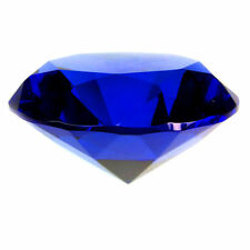 30mm Blue Crystal Diamond Shape Paperweight Facet Glass Jewel Wedding Favor Gift