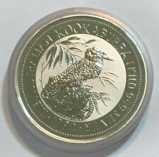 1992 1 Kilo .999 Fine Silver Australian Kookaburra Coin, by Washington Mint