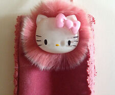 VINTAGE SANRIO HELLO KITTY FUR FACE CELL PHONE CASE NEW