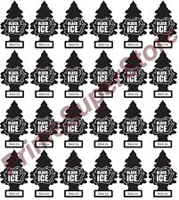 Lot Of New 24 Pack Little Trees Air Freshener Black ice Scent for Home Auto/Car