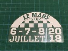 LeMans Le Mans Classic 2018 Decal Autocollant Statique Accrocher verre