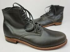Wolverine 1000 Mile Grey Plain Toe Leather Boots Size 12 D $350+