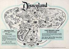 1957 Disneyland Map 24X36 inch poster