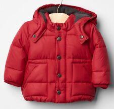 NEW Baby GAP Boys 6-12 mos Warmest Hooded Puffer Jacket Fleece Lined